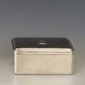 Ezüst antik bécsi kártyadoboz / úti szappantartó
