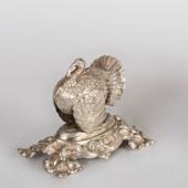 Ezüst antik bécsi fogvályótartó pulyka