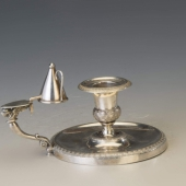 Ezüst antik kézi gyertyatartó