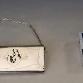 Ezüst színházi táska/pénztárca