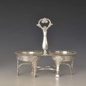 Ezüst antik francia fûszertartó