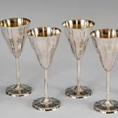 Ezüst pezsgős pohár szettben