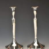 Empire stilúsú ezüst gyertyatartó pár