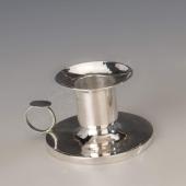 Ezüst kis antik pesti kézi gyertyatartó