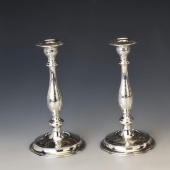 Ezüst gyertyatartó pár