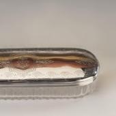 Üveg tároló ezüst tetővel