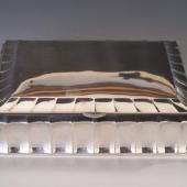 Art deco nagyméretű fabetétes doboz