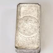 Ezüst orosz cigarettatárca