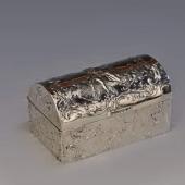 Ezüst antik szelence aranyozott belsõvel