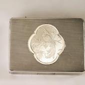 Ezüst nagyméretű szelence főnix figurával