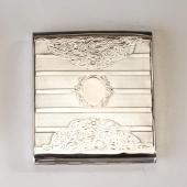 Ezüst barokk stílusú cigarettatárca