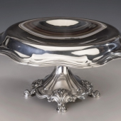 Ezüst szecessziós asztalközép