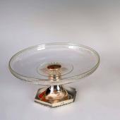 Ezüst asztalközép / tortatál