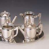 Art deco ezüst kávés-teás készlet