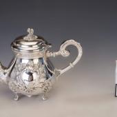 Ezüst barokk stílusú kanna
