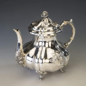 Bécsi barokk ezüst teáskanna