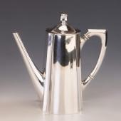 Ezüst art deco kávéskanna