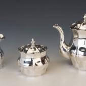Ezüst szecessziós stílusú teás/kávés készlet