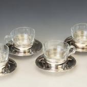 Ezüst Bachruch különleges teáscsészék